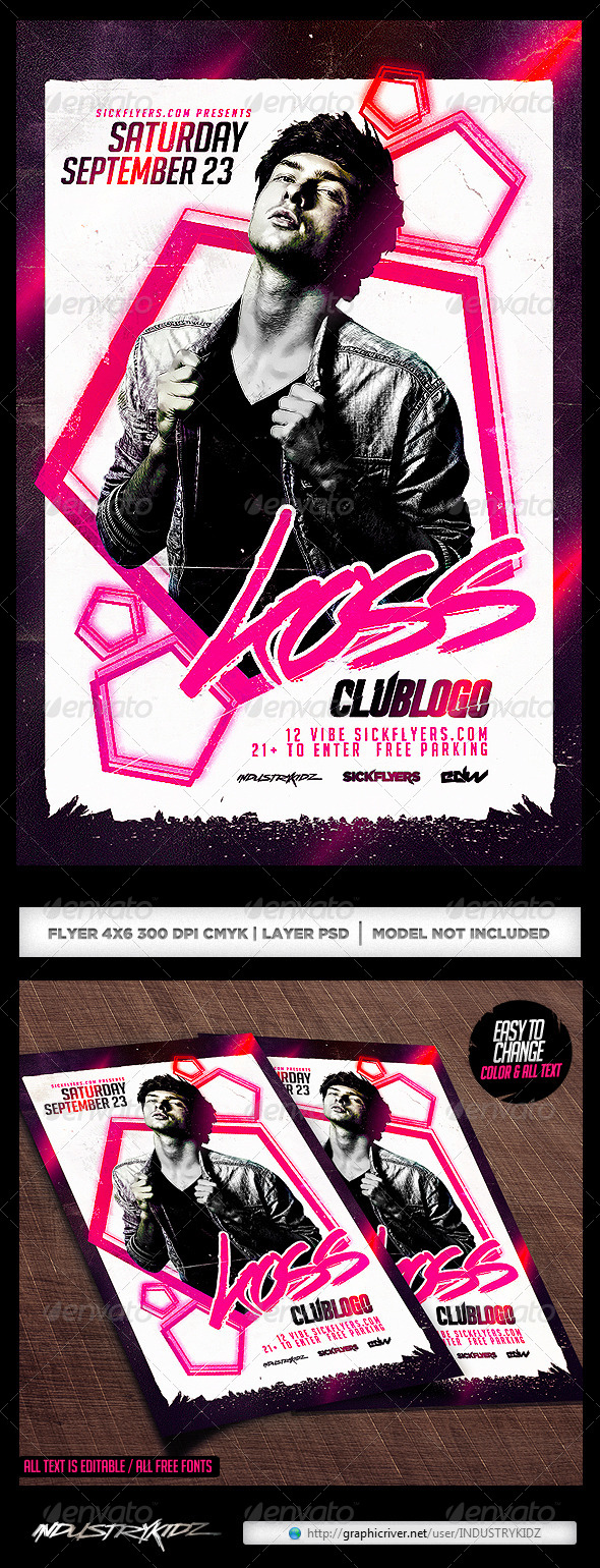 Electronic Flyer Template PSD - Clubs & Parties Events