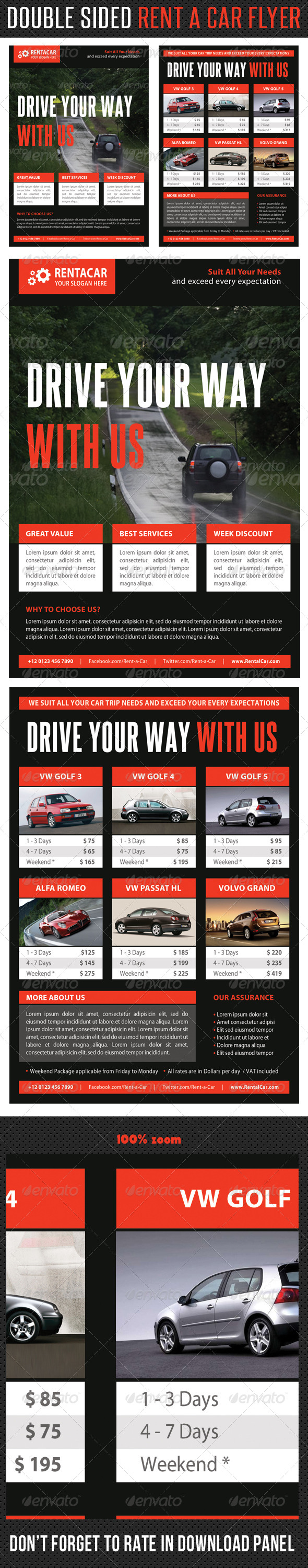 Rent A Car Corporate Flyer 09 - Corporate Flyers