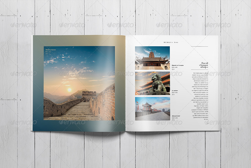 Indesign square photo book template by SacVanD | GraphicRiver