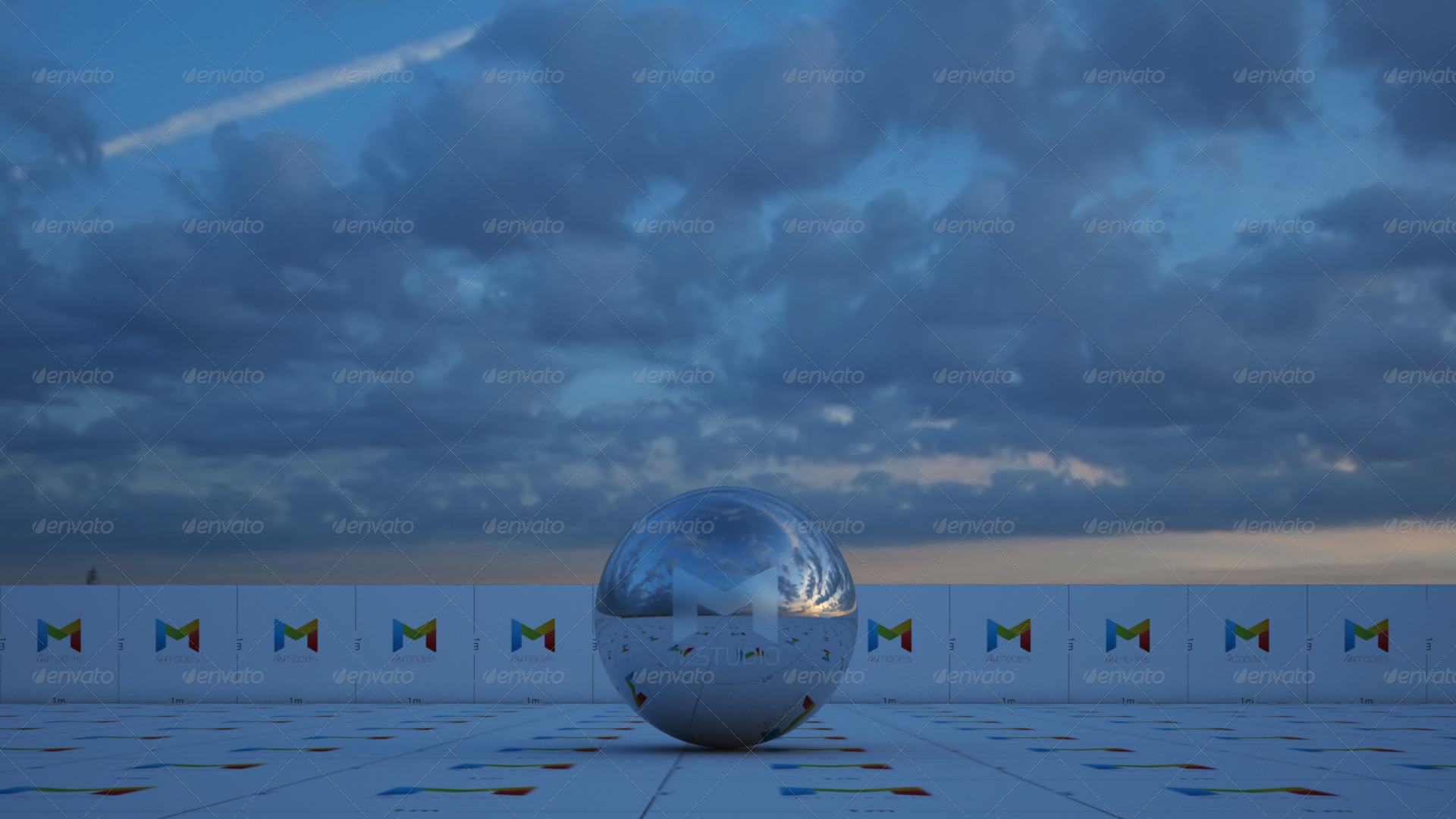 Spherical hdri cloudy sunrise full sky by cginstitute 3docean preview01g altavistaventures Gallery