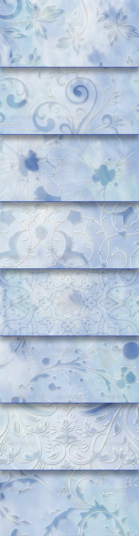 Blue Light Backgrounds - Patterns Backgrounds