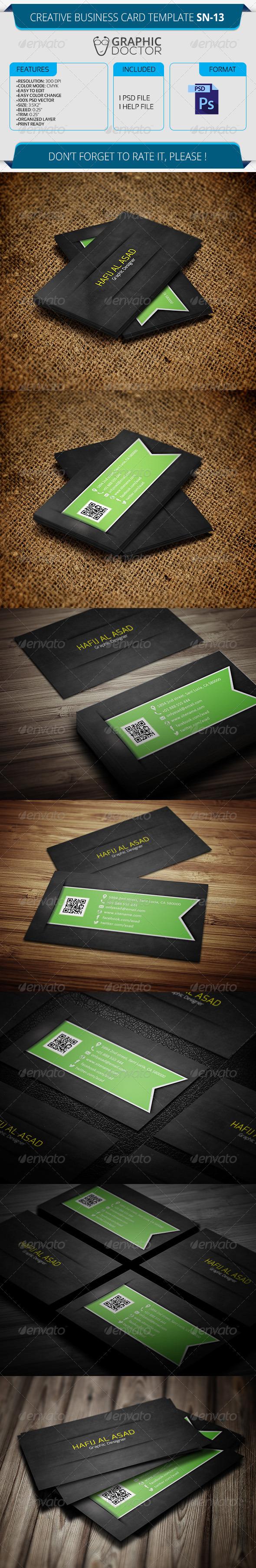 Creative Business Card Template SN-13 - Creative Business Cards