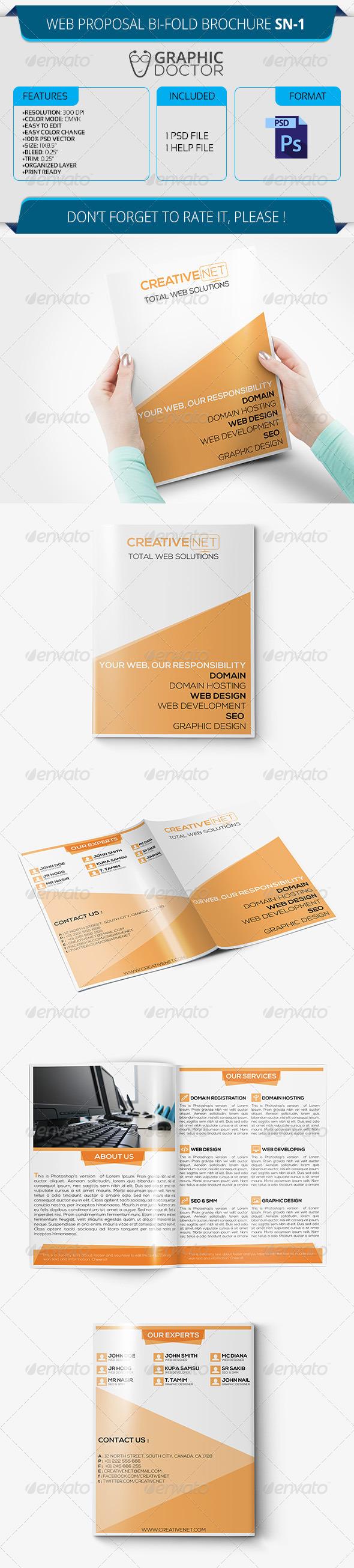 Web Proposal Bi-Fold Brochure SN-1 - Corporate Brochures
