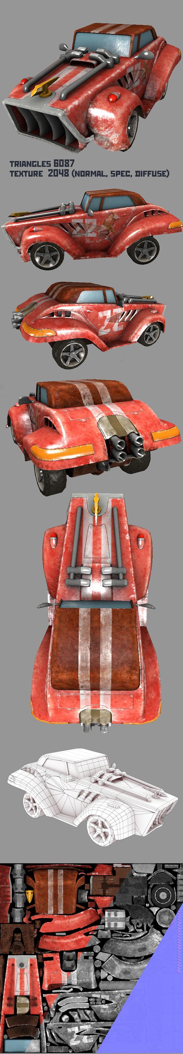Race Car - 3DOcean Item for Sale