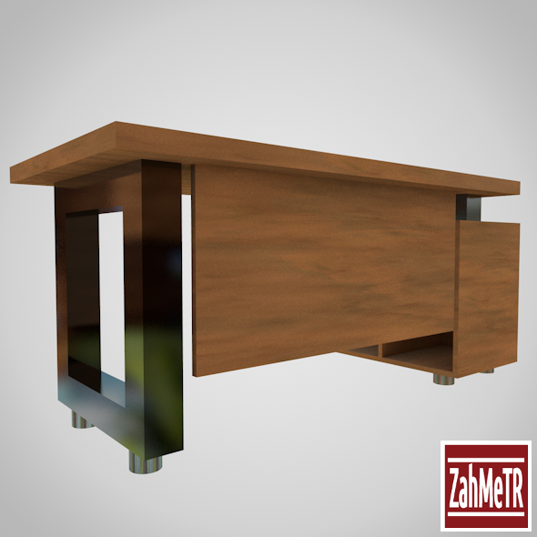 Office Desk Table 001 - 3DOcean Item for Sale