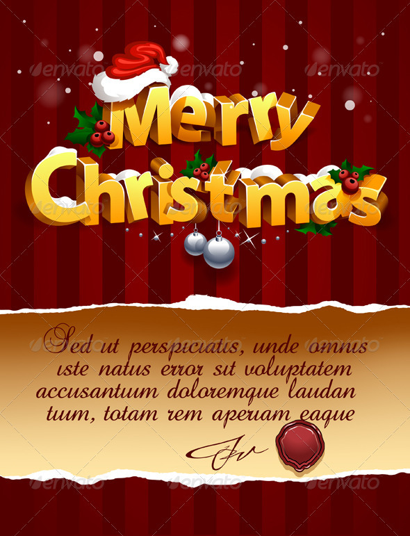 Three-dimensional Christmas Lettering - Christmas Seasons/Holidays