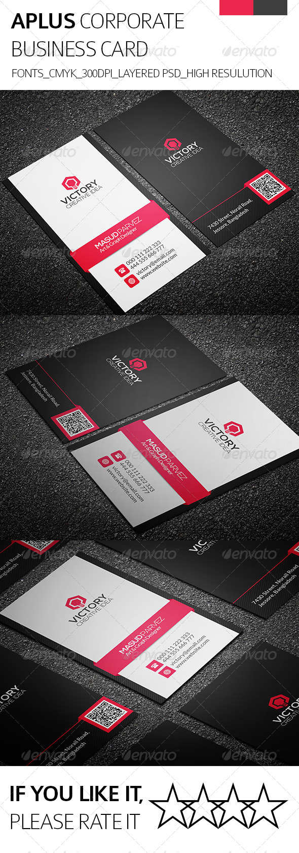Aplus & Corporate Business Card - Corporate Business Cards