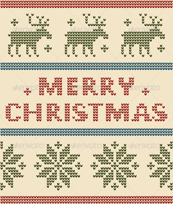 Nordic Background With Merry Christmas Text - Christmas Seasons/Holidays