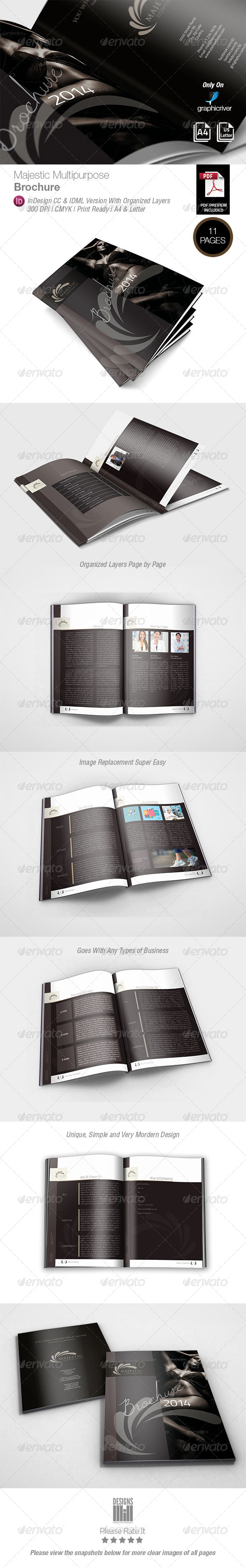 Majestic Multipurpose Brochure - Corporate Brochures