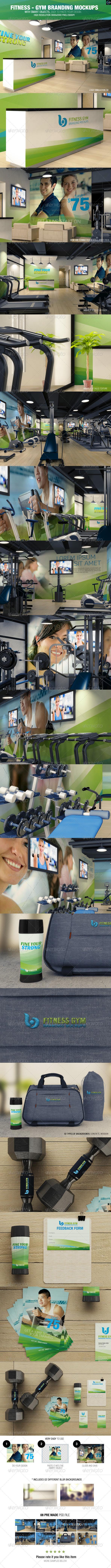 Fitness - Gym Branding Mockups - Logo Product Mock-Ups
