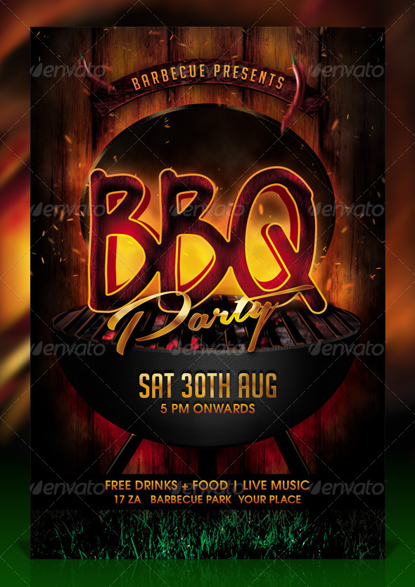 Bbq  Barbecue Party Flyer Template By Dilanr  Graphicriver