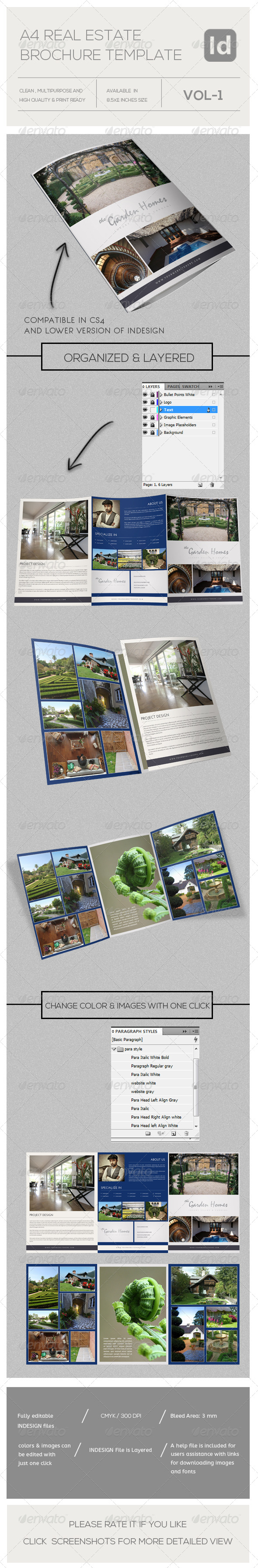 Real Estate Business Tri-Fold A4 - Brochures Print Templates
