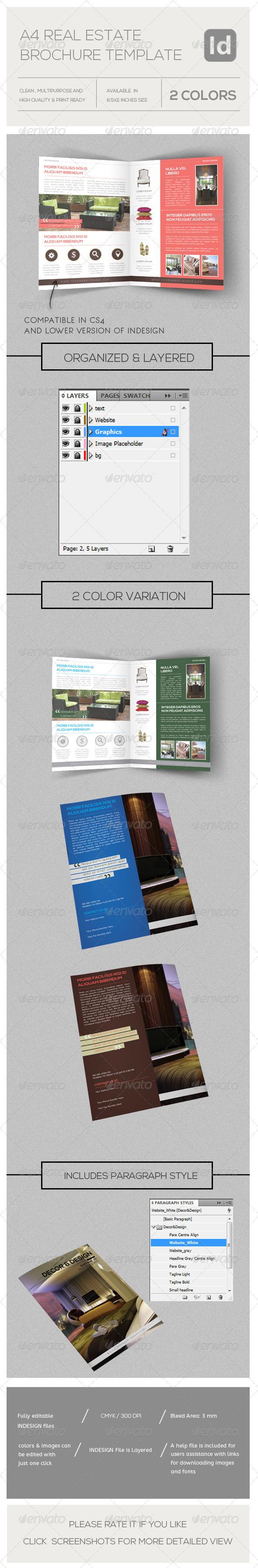 Real Estate Business Bi-fold Brochure - Brochures Print Templates