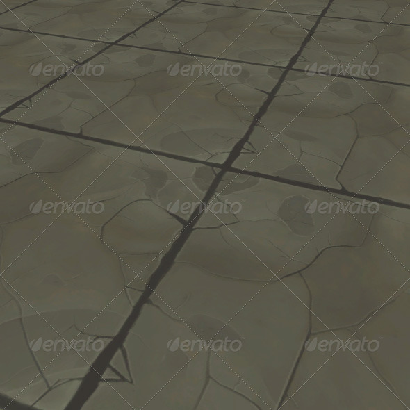 rocky tile - 3DOcean Item for Sale