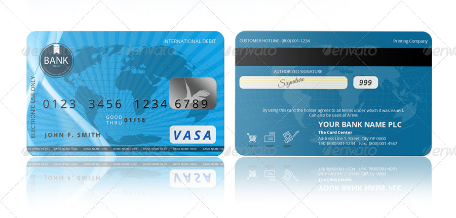 PSD Credit Card Template by pmvch | GraphicRiver