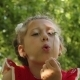 Little Girl Blowing Dandelion - VideoHive Item for Sale