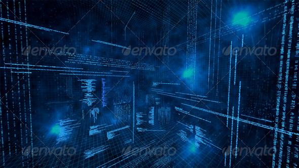 Illustration of virtual data - Stock Photo - Images