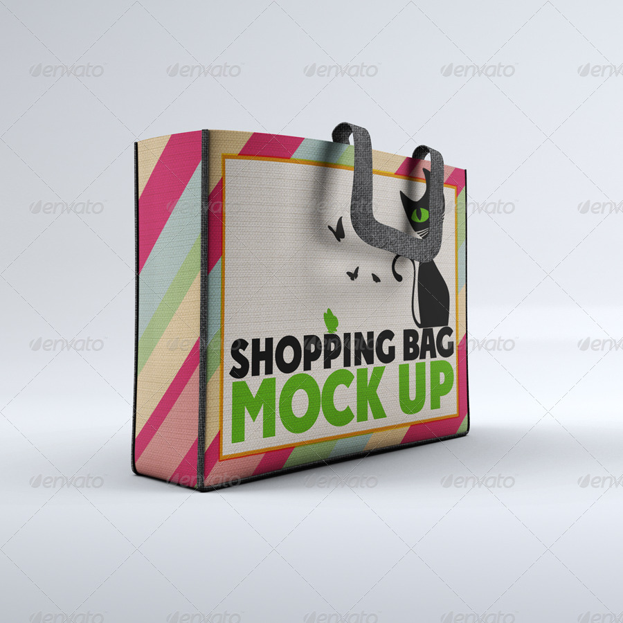 Cloth Shopping Bag Mock-Up