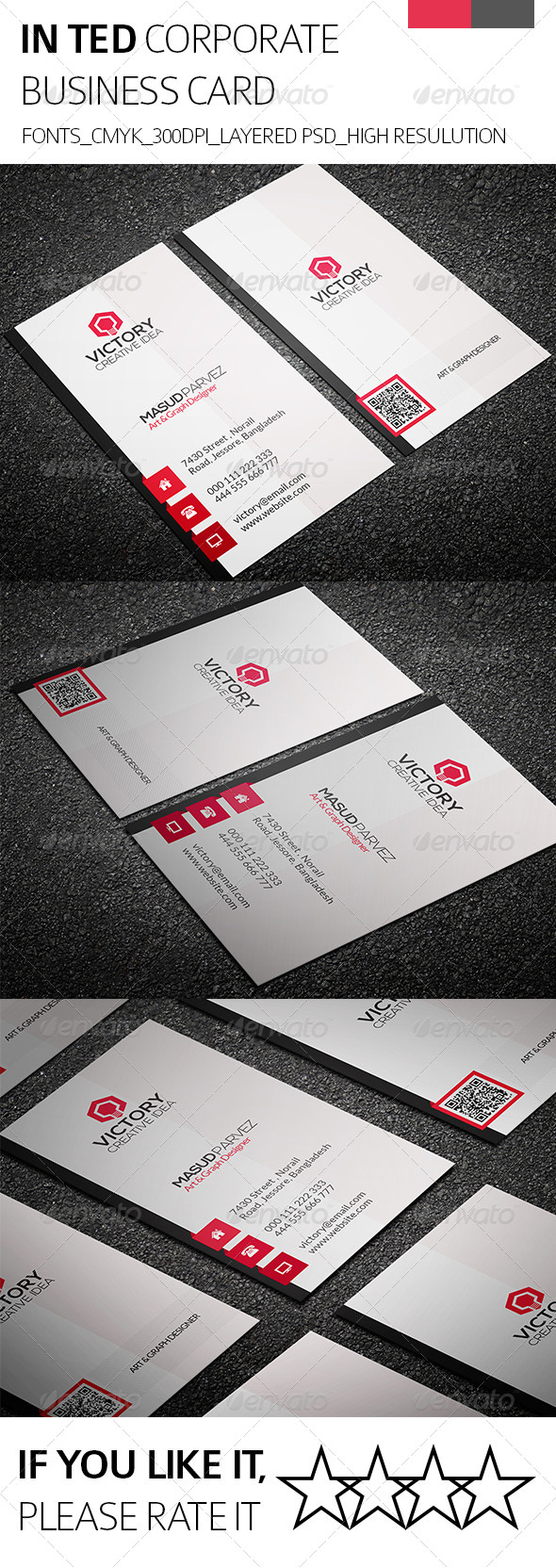Inted & Corporate Business Card - Corporate Business Cards
