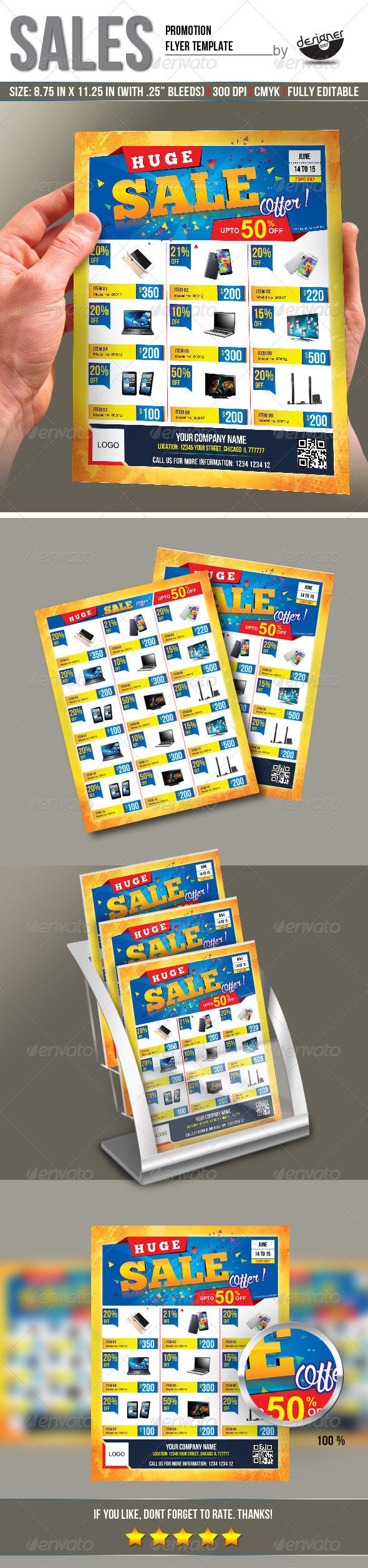 Sales Promotion Flyer Template by designer0007 GraphicRiver