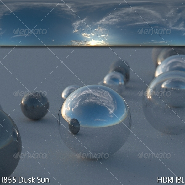 HDRI IBL 1855 Dusk Sun - 3DOcean Item for Sale