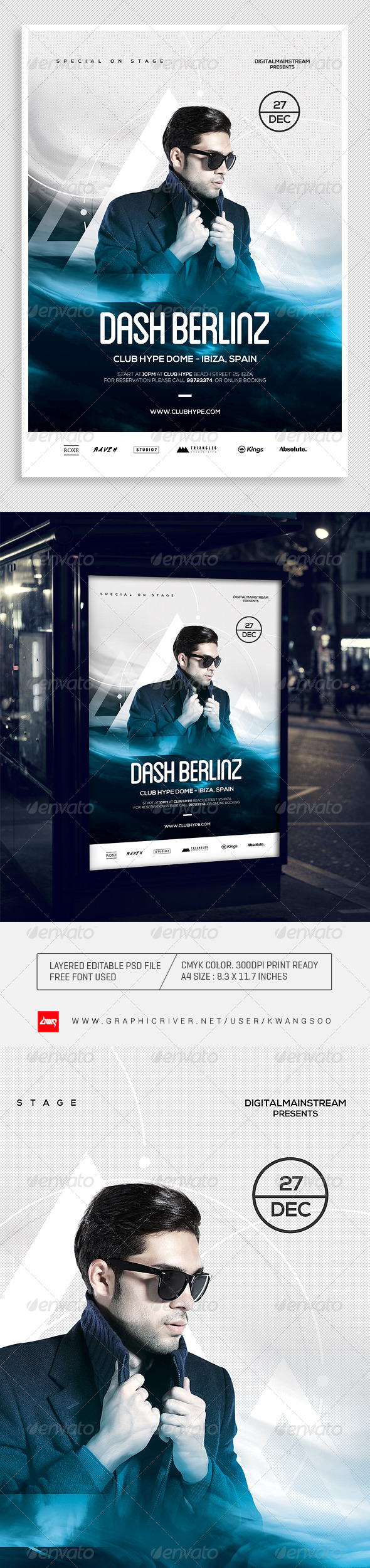 Special Dj Electronic Dance Music Flyer / Poster 2 - Clubs & Parties Events