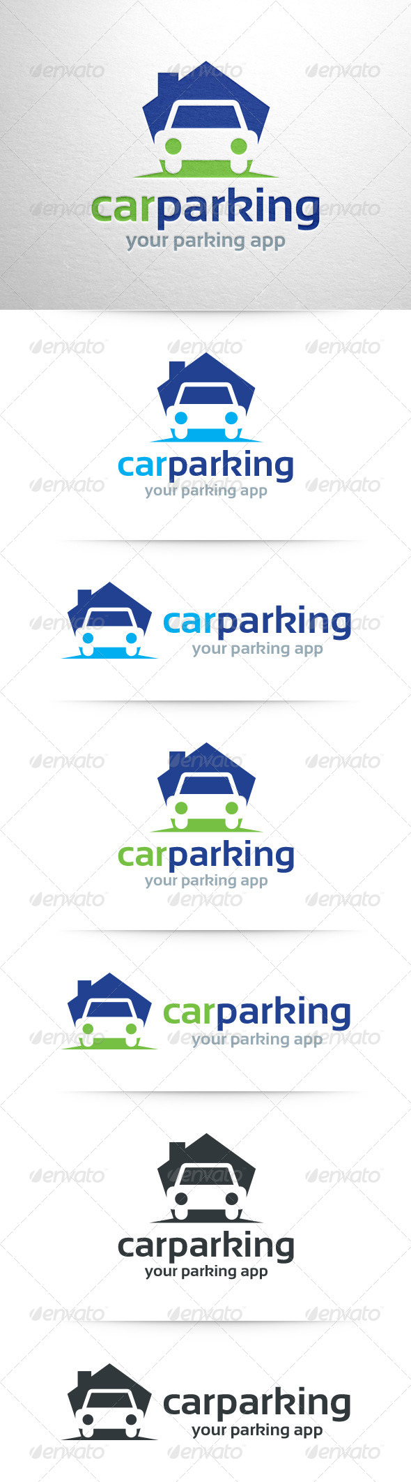 Car parking logo template by liveatthebbq graphicriver car parking logo template objects logo templates maxwellsz