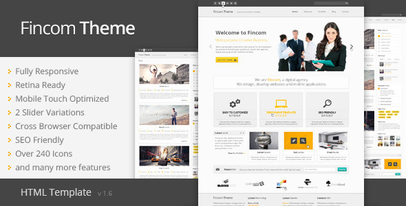 Fincom - Responsive HTML Template - Business Corporate