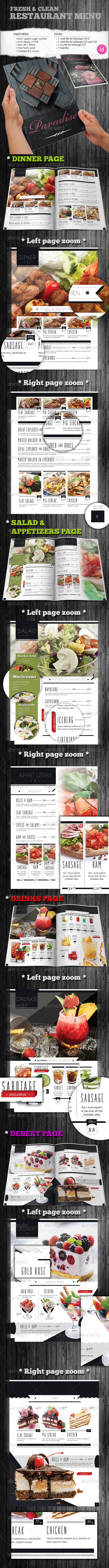 Fresh & Clean Restaurant Menu