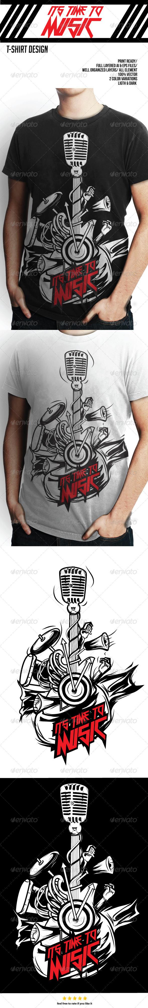 T-Shirt Design Music - Events T-Shirts