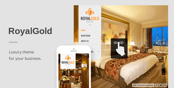 RoyalGold – A Luxury Responsive WordPress Theme