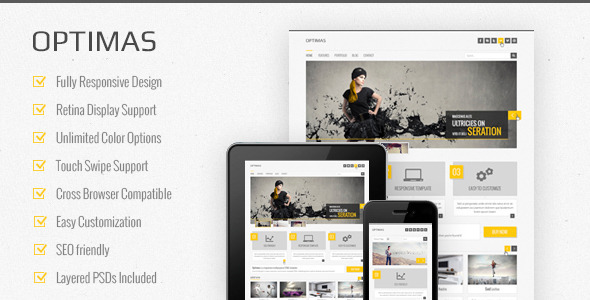 Optimas  – Responsive Multipurpose Template