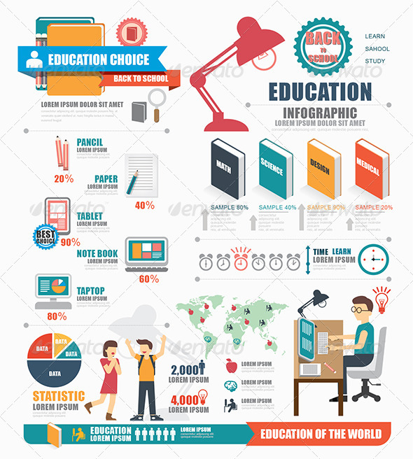 Infographic Education Template Design by pongsuwan ...
