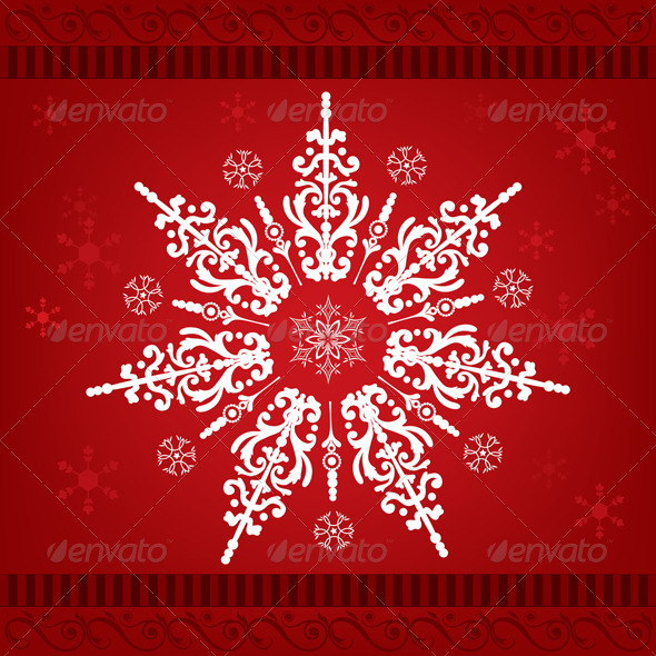 Snowflakes Christmas Ornament - Decorative Symbols Decorative
