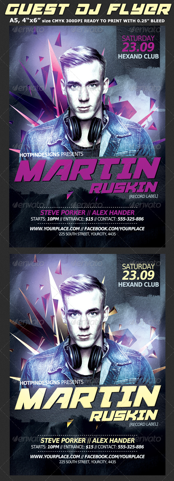 Guest Dj Party Flyer Template By Hotpin Graphicriver