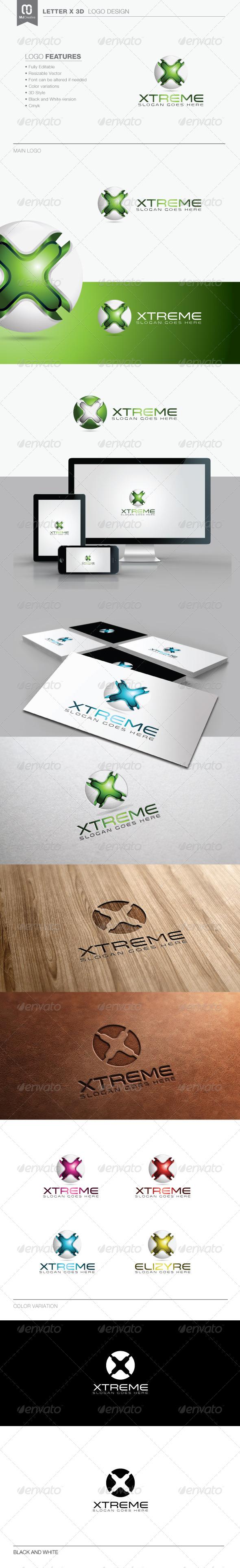 Letter X 3D Tech Logo - 3d Abstract