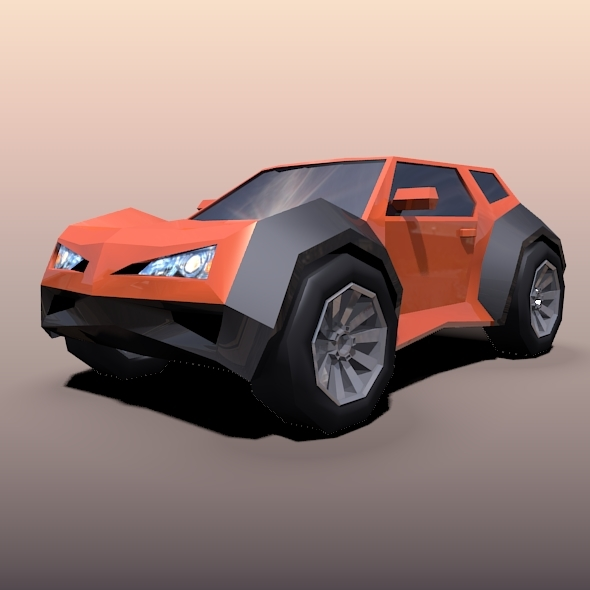 Lowpoly crossover concept vehicle - 3DOcean Item for Sale