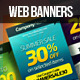 Multi-Purpose Web Marketing Banners - GraphicRiver Item for Sale