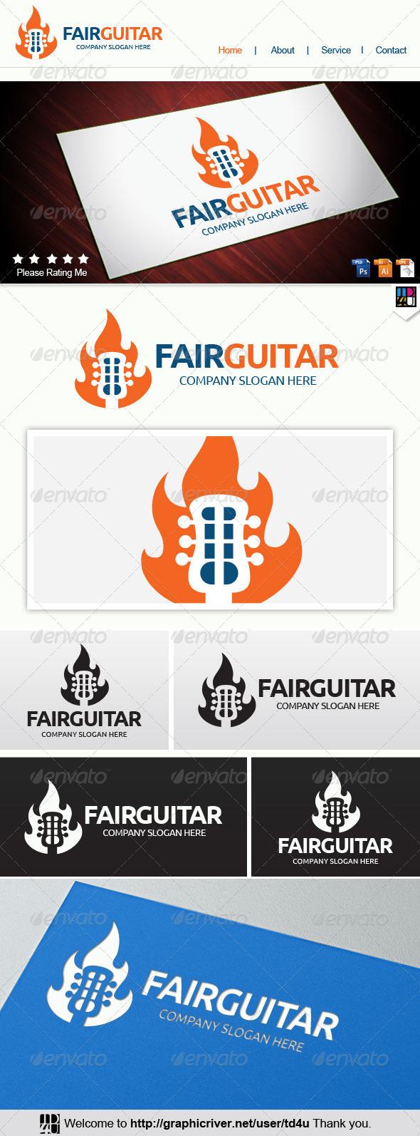 Fair Guitar - Abstract Logo Templates