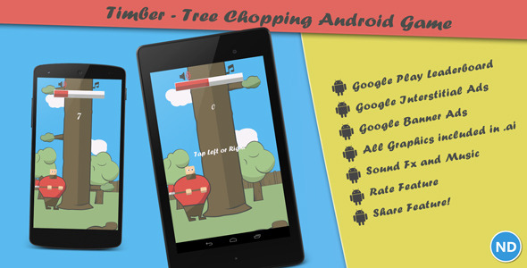 Timber - Tree Chopping Android Arcade Game - CodeCanyon Item for Sale