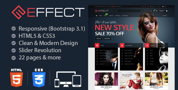 Effect - Responsive E-Commerce Template - Fashion Retail