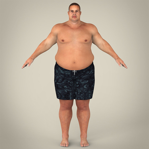 Realistic Fat Man - 3DOcean Item for Sale