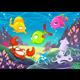 Happy Animals Under the Sea - GraphicRiver Item for Sale