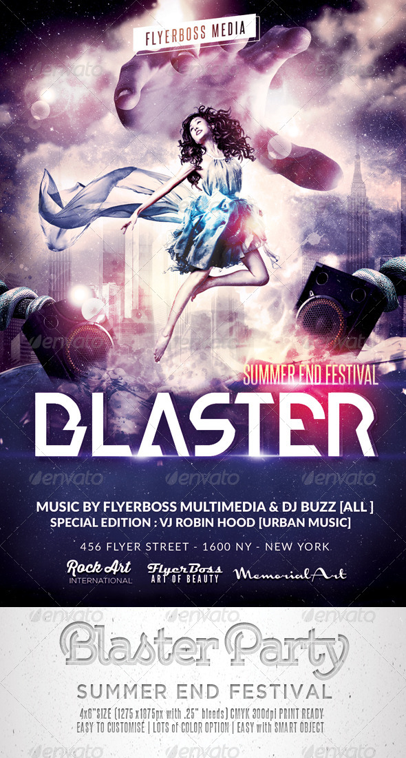 Blaster Music Flyer - Events Flyers