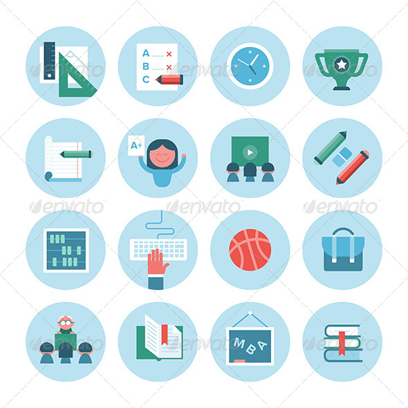 Collection of Education Icons - Objects Icons