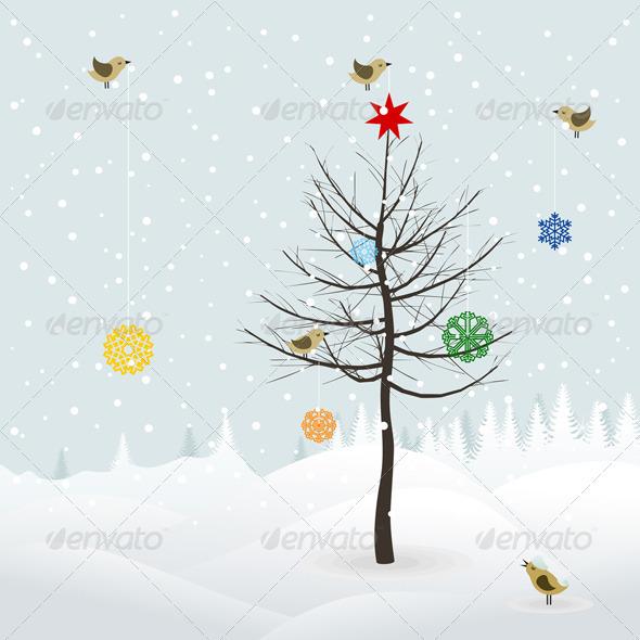 Christmas Landscape - Landscapes Nature