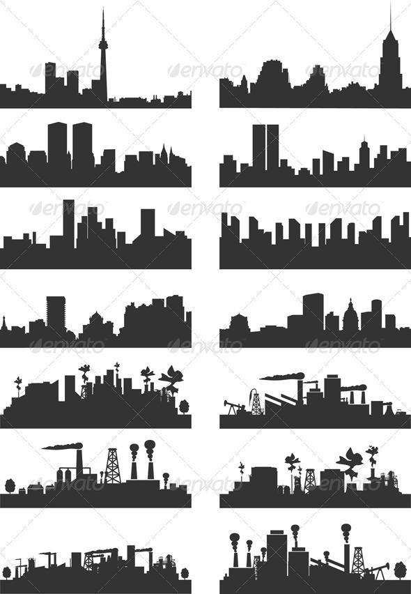 City landscape2 - Buildings Objects