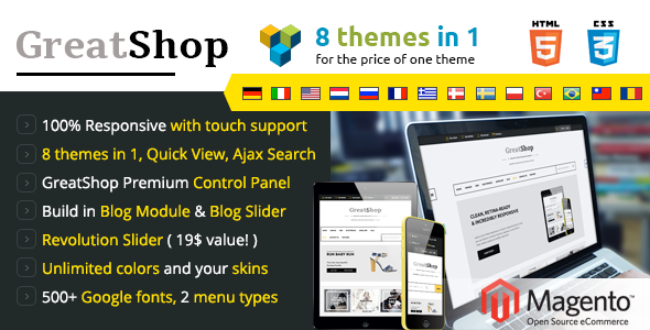 GreatShop – Responsive Magento theme - Shopping Magento