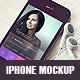 Realistic iPhone Mockup - GraphicRiver Item for Sale