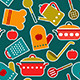 Seamless Pattern of Kitchen Utensil - GraphicRiver Item for Sale